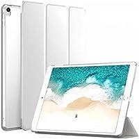 Microcase iPad 9.7 İnç 2017 Smart Cover Crystal Standlı Kılıf Ve Cam Koruma, BEYAZ
