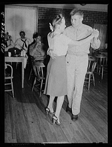 Vintography Reproduced Photo of Washington, D.C. Sergeant George Camblair Taking his Girlfriend Dancing at The United Service Organization USO During a Weekend furlough 1942 Delano C Jack 03a by Vintography