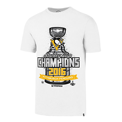 [NHL Pittsburgh Penguins Men's 2016 Stanley Cup Champions '47 All Pro Flanker Tee, Medium, White Wash] (Stanley Cup T-shirt)
