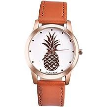 Watch,Han Shi Fashion Women Men Pineapple Faux Leather Analog Quartz Wrist Watch Bracelet