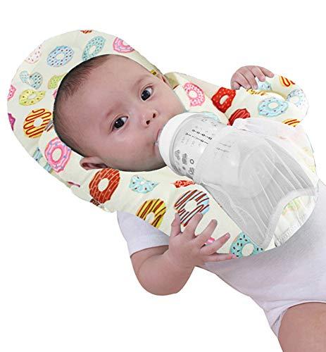 Baby Portable Detachable Feeding Pillows Self-Feeding Support Baby Cushion Pillow (Pink 2)