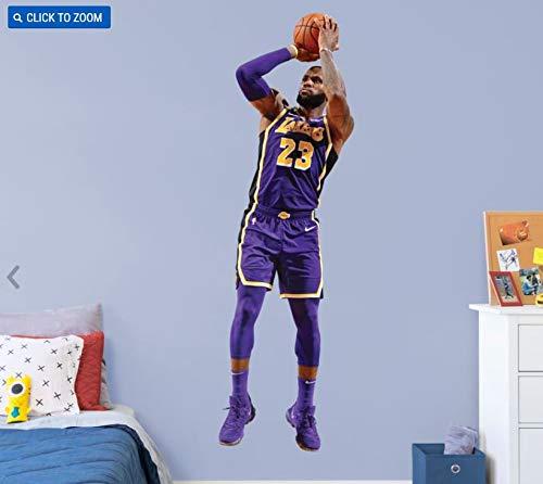 b08a56bdcb38 Amazon.com  Lebron James FATHEAD Graphic Los Angeles Lakers Official NBA  Vinyl Wall Graphic Life-Size