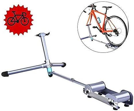 Entrenador bicicleta plegable - Soporte entrenamiento bicicleta plegable Bicicleta Entrenador rodillos bicicleta Rodillo ciclismo carretera MTB Estación ejercicio bicicleta Resistencia Ejercicio Fit: Amazon.es: Deportes y aire libre