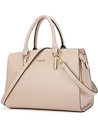 Elegant Women Handbags Leather Vintage Tote Satchel Shoulder Crossbody Bags Top Handle Purse