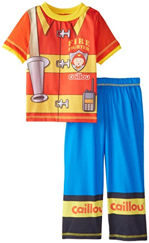 Caillou Little Boys' Short Sleeve Pant Set, Red, 4T