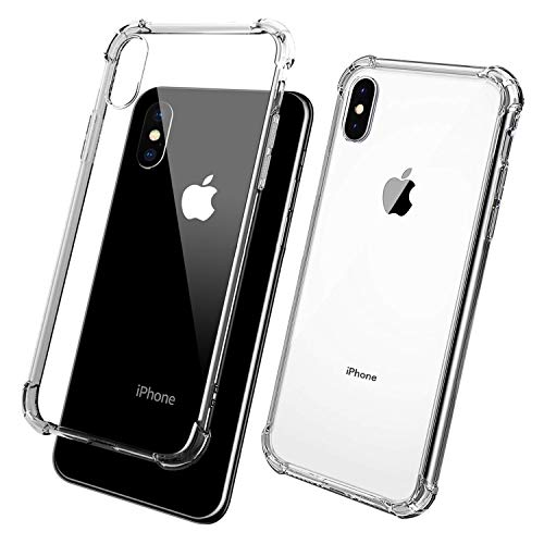 ANEVV Case Compatible with iPhone Xs Max Case 2018 (6.5) with Corner Bumper Protection, TPU Enhanced Drop Protection (Clear)