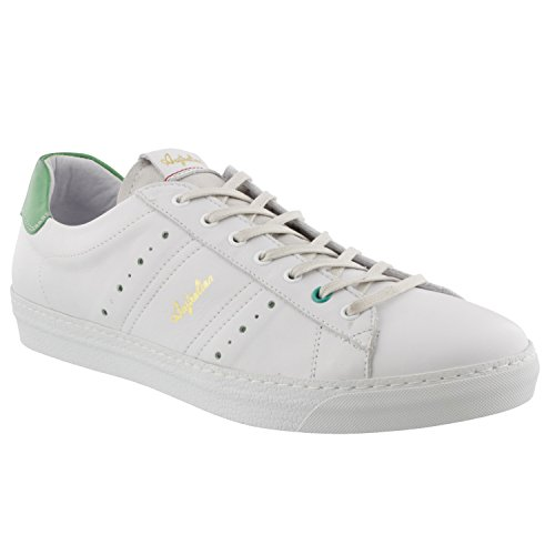 Australian Footwear IVANISEVIC White/Green Leather trainer/Tennis shoe cheap sale 2014 cheap for nice XbtYIU0q