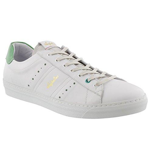 Australian Footwear IVANISEVIC White/Green Leather trainer/Tennis shoe good selling cheap online 9eM0DCui