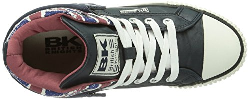 British Knights Roco Herren Hohe Sneakers Blau (Navy-Union Jack-Burgundy 03)