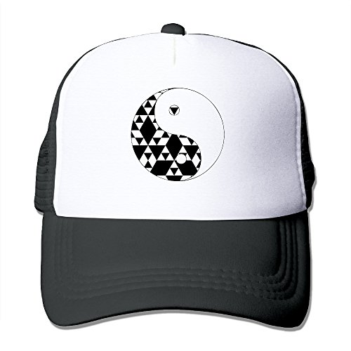 Yin Yang Triangle Hipster Polyester Foam Adjustable Adult Trucker Cap Justin Womens Hat