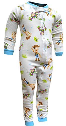 Disney Boys' Toy Story Buzz and Woody Toddler One Piece Blanket Sleeper PJ (4T) -