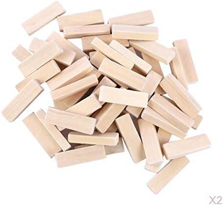 Sharplace 木材キューブ ウッド キューブ 木材ブロック ウッドブロック 長方形 ハンドメイド材料 約100個入り