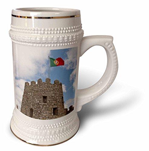 (Danita Delimont - Castles - Portugal, Sintra, 9th c. Moorish Castle, Flag - EU23 JLG0009 - John Loggins - 22oz Stein Mug)