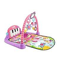 Fisher-Price - Gimnasio Piano Pataditas Rosa, Manta de Juego bebé (Mattel BMH48)