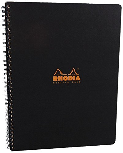 Rhodia Meeting Books 8 1/4 In. X 11 3/4 In. Black 80 Sheets, Pack of 3 by Rhodia