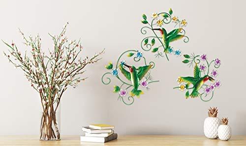 The Paragon Hummingbird Outdoor Patio Wall Decor - 3 Piece Garden Wall Ornaments, Outdoor or Indoor Decoration