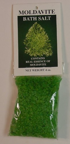Bath Salts With Real Moldavite Essence - 4 Ounce Package