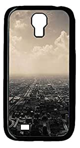 Cloudy Suburbs City Protective Hard PC Snap On Case for Samsung Galaxy S4 I9500-1122003