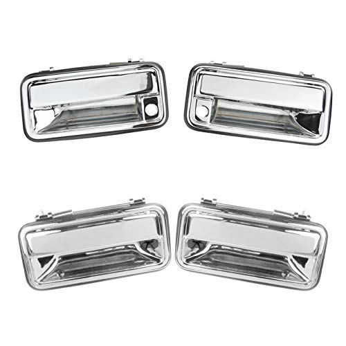 2000 Gmc Yukon 4 Door - Chrome Outer Outside Exterior Door Handle 4 Piece Kit Set for Chevy Tahoe Pickup