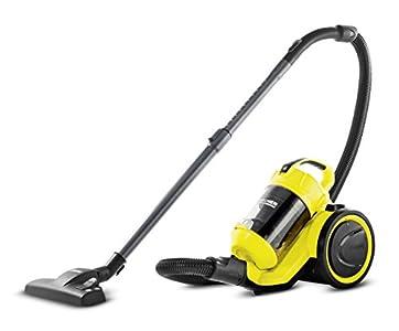 Kärcher Aspirateur traîneau VC 3 sans sac, filtre intégré haute performance, 700 W, coloris jaune-noir, maniable, silencieux et hypoallergénique