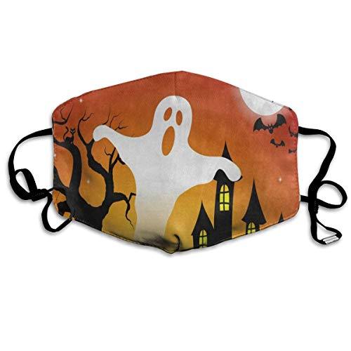 Custom Mouth Mask Anti-Dust Halloween Ghost Tree Moon