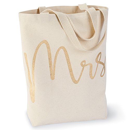 Mud Pie 4485034 Wedding Mrs. Canvas Tote Bag,Mrs (Wedding Tote)