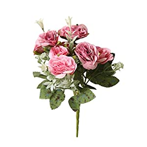 Yezijin Artificial Fake Flowers, 8 Heads Artificial Fake Peony Silk Flower Bridal Hydrangea Home Wedding Decor 117