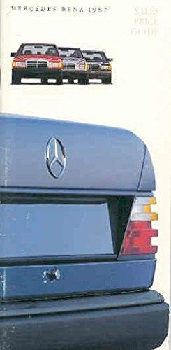 - 1987 Mercedes Benz Salesman's Data Guide Brochure