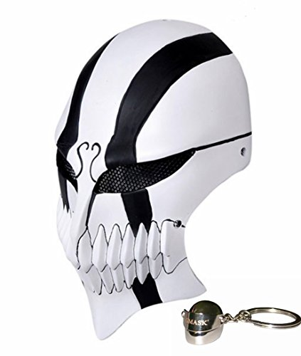 Gmasking Bleach Ichigo Kurosaki Cosplay Airsoft Full Face Paintball Mask (Bleach Ichigo Full Hollow Mask)
