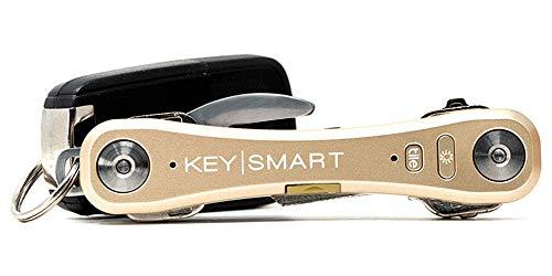 organizador de llaves con luz led Keysmart Pro dorado