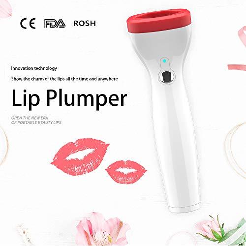 Anke's Lip Plumper Device Automatic Quick Fuller Lip Plumper Enhancer Natural Sexy Apple Lips Buxom Lip Electric Lip