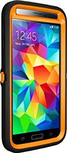 Otterbox [Defender Series] Samsung Galaxy S5 Case - Retail Packaging Protective Case for Galaxy S5  - Max 5 Blaze (Blaze Orange/Black/Max 5 Design)
