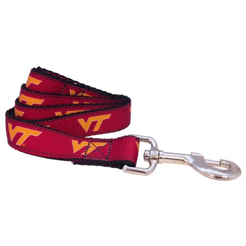 All Star Dogs NCAA Virginia Tech Hokies Dog Leash, Maroon, X-Small/6-Feet