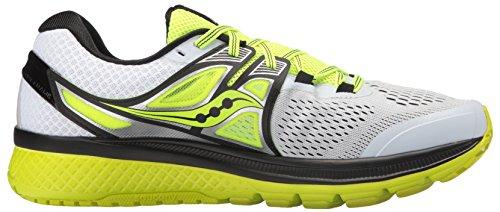 Saucony Triumph Iso 3, Zapatillas de Running para Hombre, Verde Bianco (White/Black/Citron)