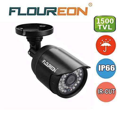 FLOUREON House Camera System Bullet Home Security Cameras 1500TVL 720P 1.0MP AHD Resolution Night Version for House/Apartment/Office (1500TVL Camera)