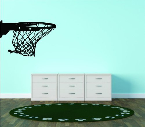 Basketball Hoop Net Ring Vinyl Mural Wall Decal Vinyl Peel And Stick Sticker Wall Decal Picture Art Graphic Design Image Reduced Price Sale Item Decor 20x20