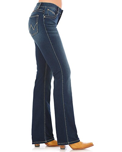 Wrangler Women's Q- Dark Wash Ultimate Riding Jeans Boot Cut Indigo 11W x - Jeans Riding Wrangler
