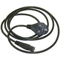 Interpower 86240150 United Kingdom/Ireland Cord Set, BS 1363/A Plug Type, IEC 60320 C13 Connector Type, Black Plug Color, 10A Plug Fuse, Black Cable Color, 10A Amperage, 250VAC Voltage, 2.5m Length