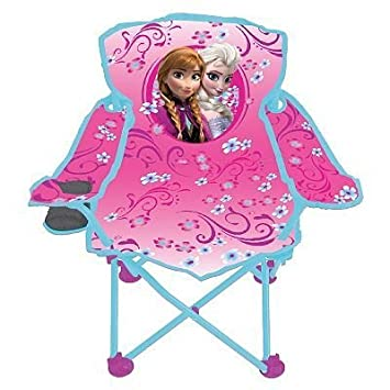 Disney Frozen Fold N Go Kids Chair W/ Cupholder And Carry Bag