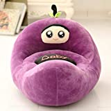 WAYERTY Children Sofa, Kid Chair Lazy Couch Cartoon Plush Toy Fruit Seat Stool Cushion Birthday Gift-Purple W55xH50cm(22x20inch)