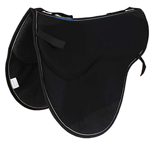 Pro Rider Horse English Endurance Treeless Non-Slip Neoprene Saddle Pad Black 6405BK1