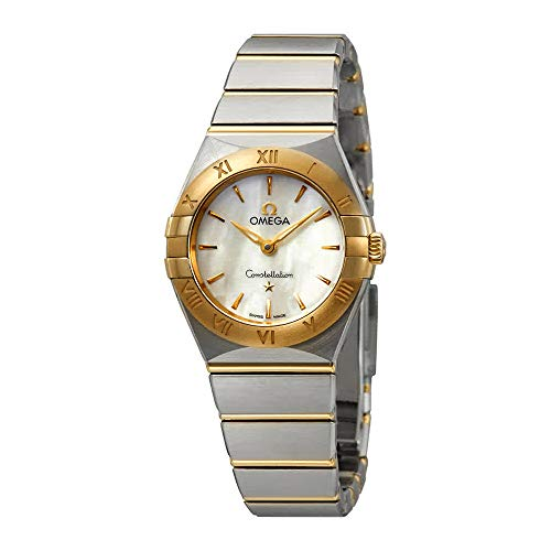 Omega Constellation White Mother of Pearl Dial Ladies Steel and 18kt Yellow Gold Watch 131.20.25.60.05.002