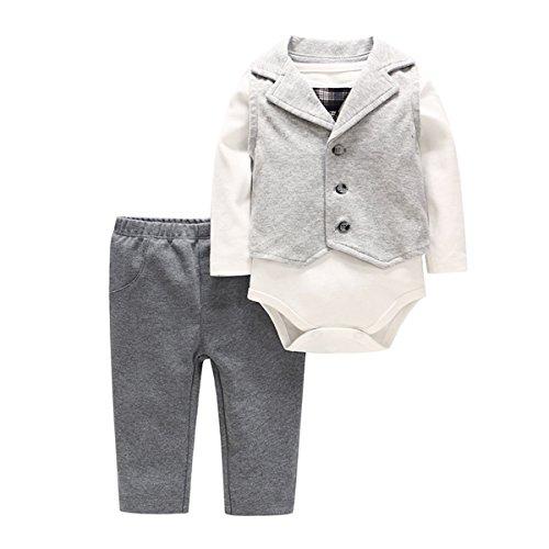 Bebone Baby Jongens Romper Kleding Tuxedo Doop Trouwpak Babykleding Set
