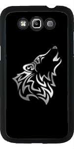 Funda para Samsung Galaxy Win GT-I8552 - Lobo De Plata Negro De Origen Animal by Nina Baydur