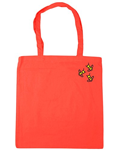 Coral HippoWarehouse x38cm 10 litres Bag Gym Trio Pocket Tote Shopping 42cm Bumblebee Beach rrwz6q7