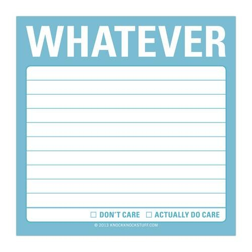 Knock Whatever Sticky Notes product image