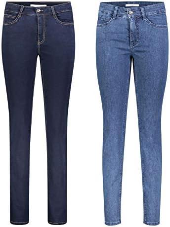MAC Angela 2er Pack Damen Jeans in Verschiedene Farbvarianten Damen Hose, Größe:W34/L34, Farbe:D801+D845