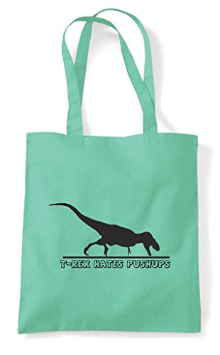 Rex Bag Push Mint Ups Shopper Hates Funny T Tote dE6qxUYWw