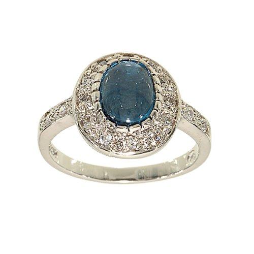 Genuine Blue Zircon Ring - 3