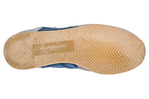 Scarpe Da Uomo Modello Philippe Scarpe Da Ginnastica Uomo In Camoscio Tropez Grigio